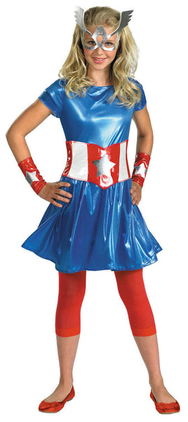 Tween Captain America Costume for Girls