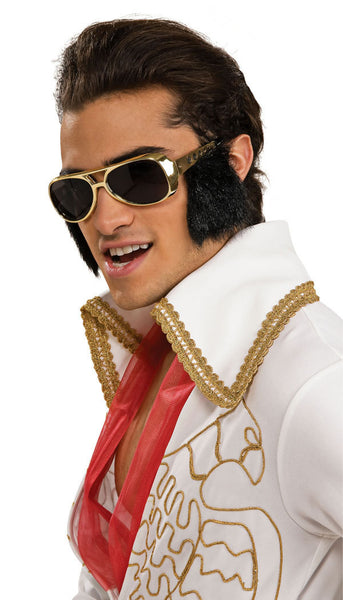 Adult Elvis Presley Sunglasses w/ Sideburns