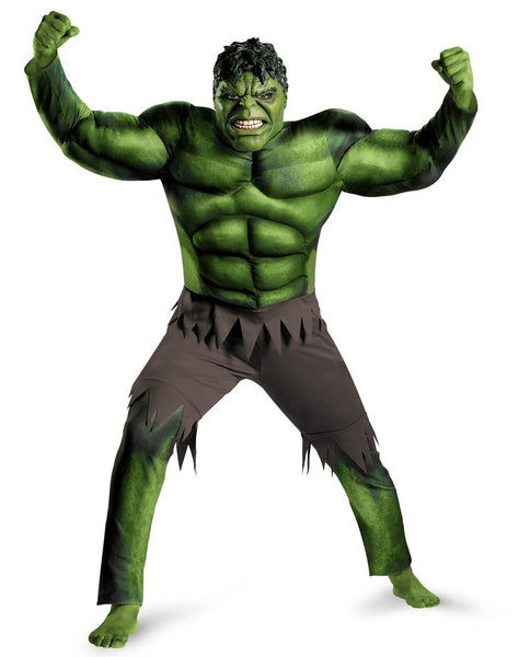 Adult Hulk Muscle Costume