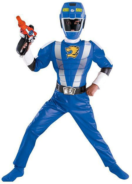 Kids Blue Power Ranger Muscle Costume