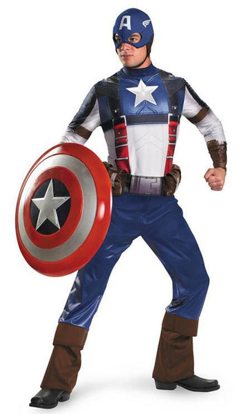 Adult Captain America Movie Deluxe Costume