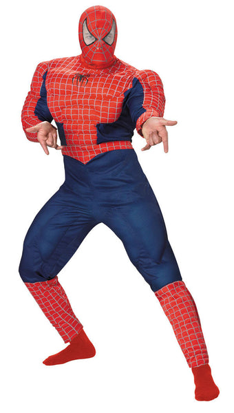 Adult Spiderman Muscle Deluxe Costume DI-6614