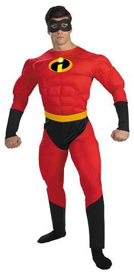 Adult Mr. Incredible Muscle Deluxe Costume