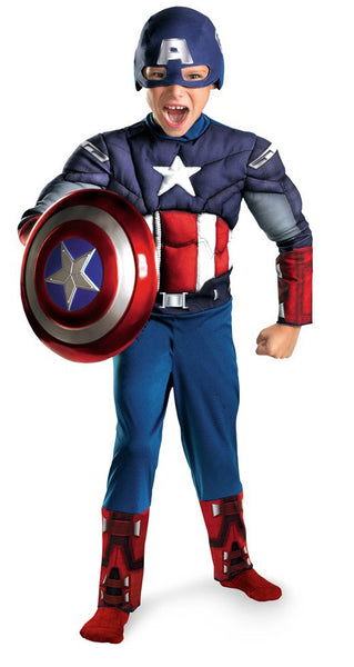 Child Captain America Muscle Costume