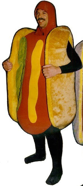 Hot Dog w/ Mustard & Relish Mascot