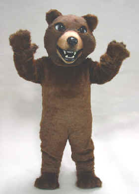 Brown Grizzly Mascot