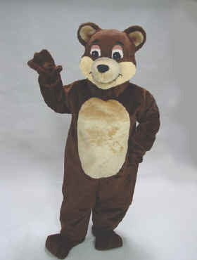 Chocolate Bear Mascot