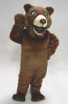 Happy Grizzly Mascot