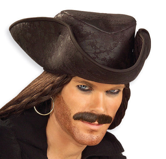 Adult Black Caribbean Pirate Hat