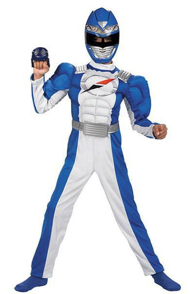 Kids Blue Power Ranger Muscle Deluxe Costume