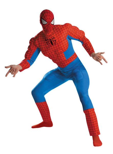 Adult Spiderman Muscle Deluxe Costume