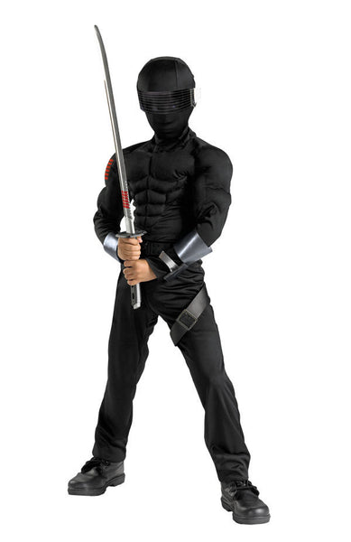 Kids G.I. Joe Snake Eyes Muscle Costume