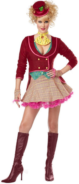 Adult Sassy Red Mad Hatter Costume