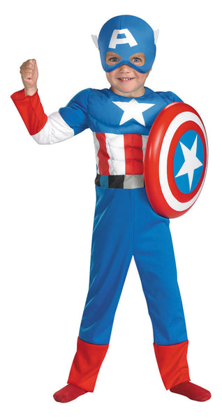 Toddler Captain America Costume - Muscle Chest