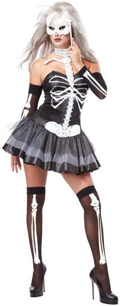 Adult Skeleton Masquerade Costume