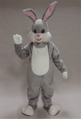 Grey Rabbit Mascot