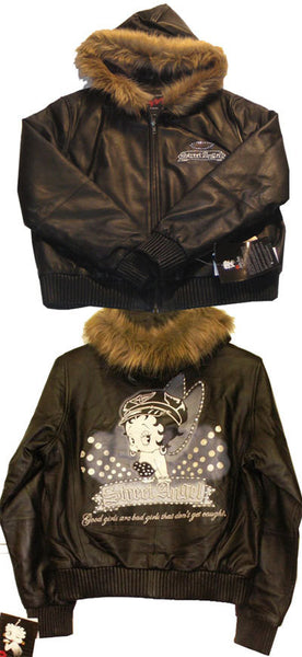 Betty Boop Leather Jacket - Street Angels