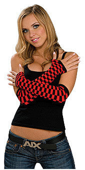 Black and Red Checkered Glovelets