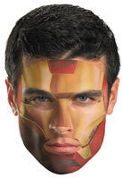 Adult Iron Man Face Tattoo