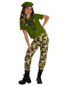 Kids Special Forces Green Camouflage Costume