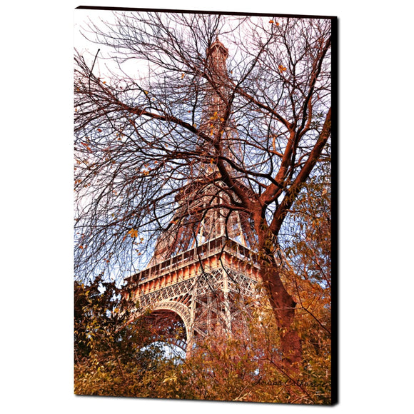 'Eiffel Tower Dreaming' Canvas Wrap by Louisa Catharine