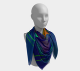 Summer Rays Contemporary Art Scarf