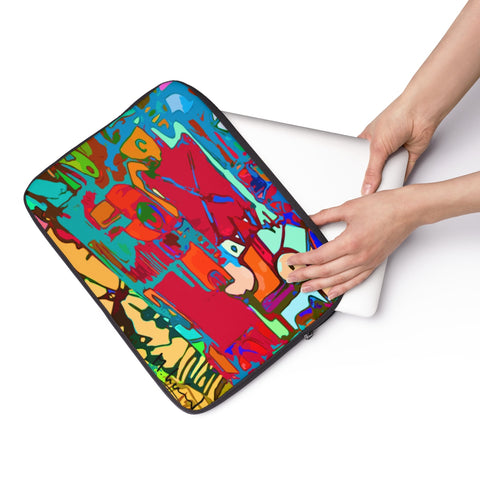 Michel Lienard Wearable Art Laptop Sleeve - louisacatharinedesign