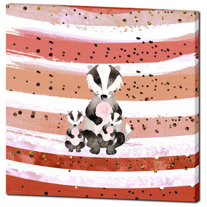 Peach Tones 'Bea The Badger' Canvas by Louisa Catharine