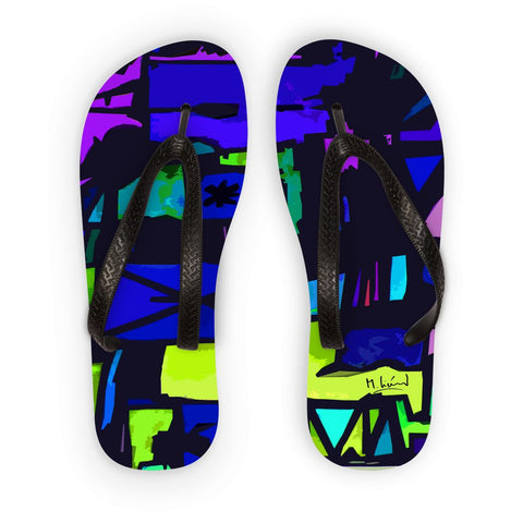 Enigma Art Collection Flip Flops - louisacatharinedesign