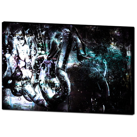 'Tubular' Canvas Wrap Artwork - louisacatharinedesign