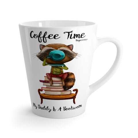 My Daddy Is A Bookworm Latte Mug - louisacatharinedesign
