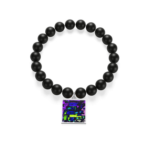 Enigma Contemporary Art Matte Onyx Bracelet - louisacatharinedesign
