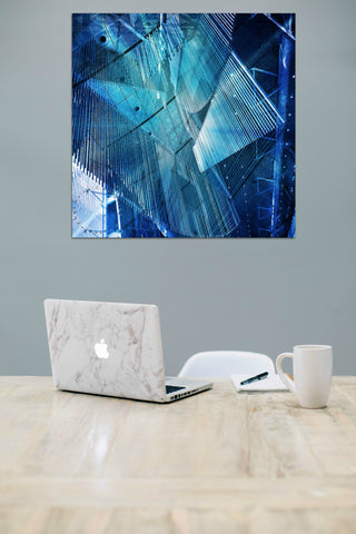Blue Wall Canvas Louisa Catharine