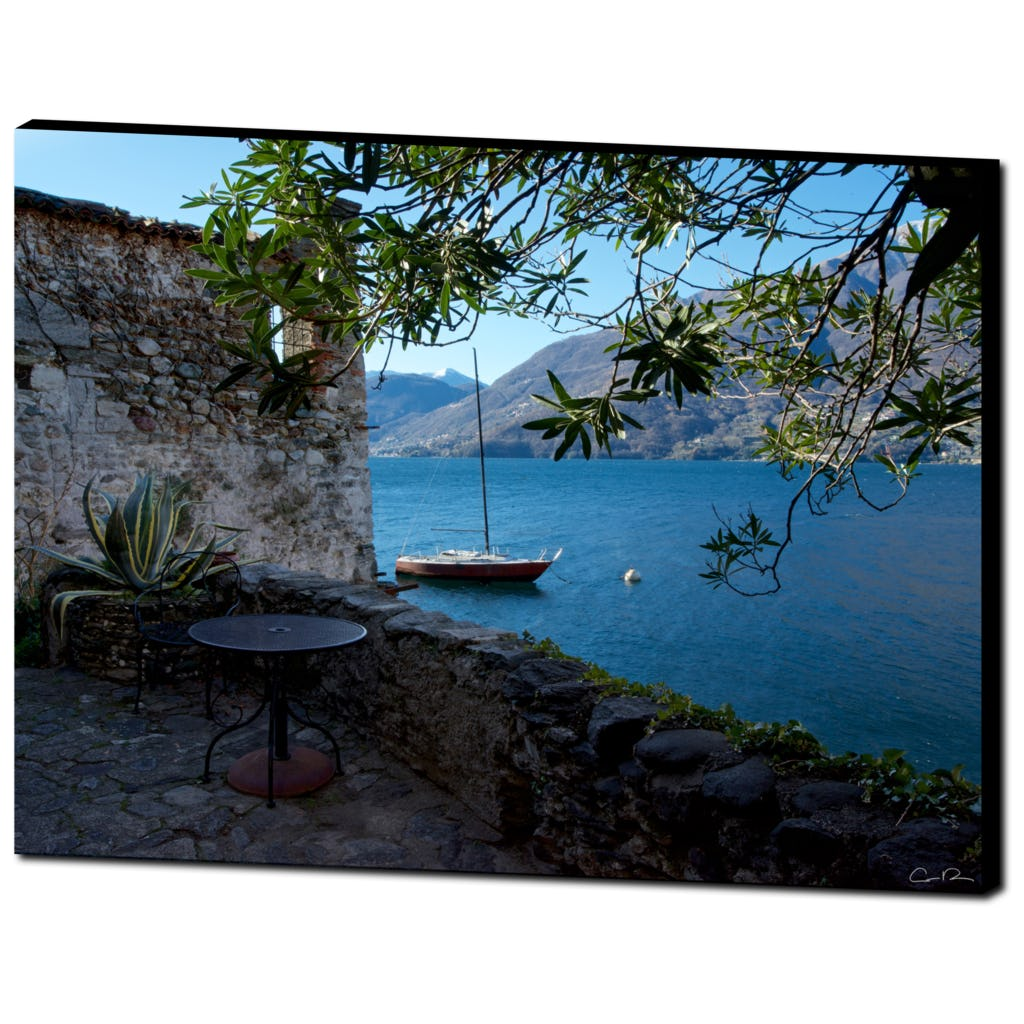 'Lakeside Table' Premium Wall Canvas