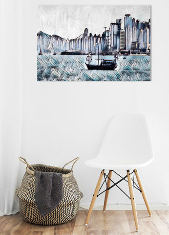 City Of Contrasts Wall Art - louisacatharinedesign