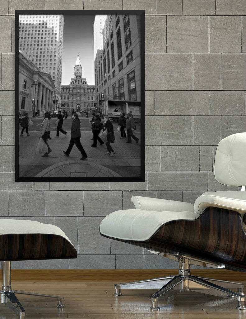 'City Walk' Framed Visual Art by Adrian Rodriguez