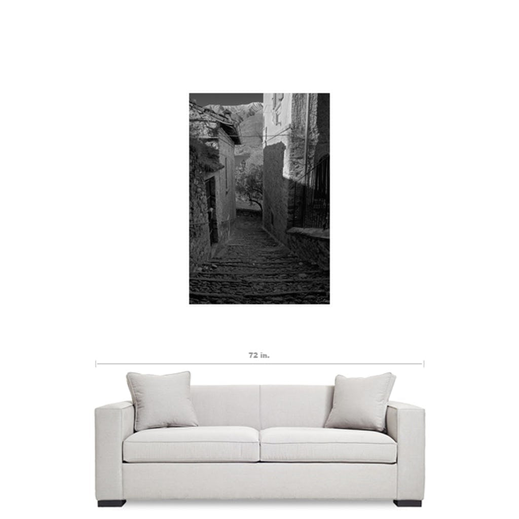 Steps Black Framed Canvas