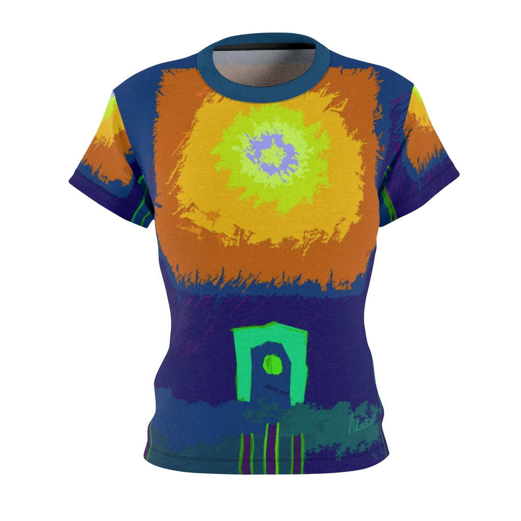 Summer Rays Women's Fitted Art T Shirt