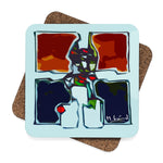 Michel Liénard Square Contemporary Art Coaster Set - 4pcs - louisacatharinedesign