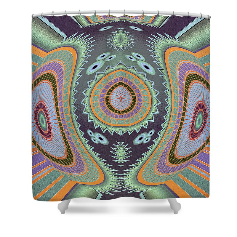Blowfish Groovy Moves Shower Curtain - louisacatharinedesign