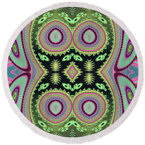 Cactus Love Round Beach Towel