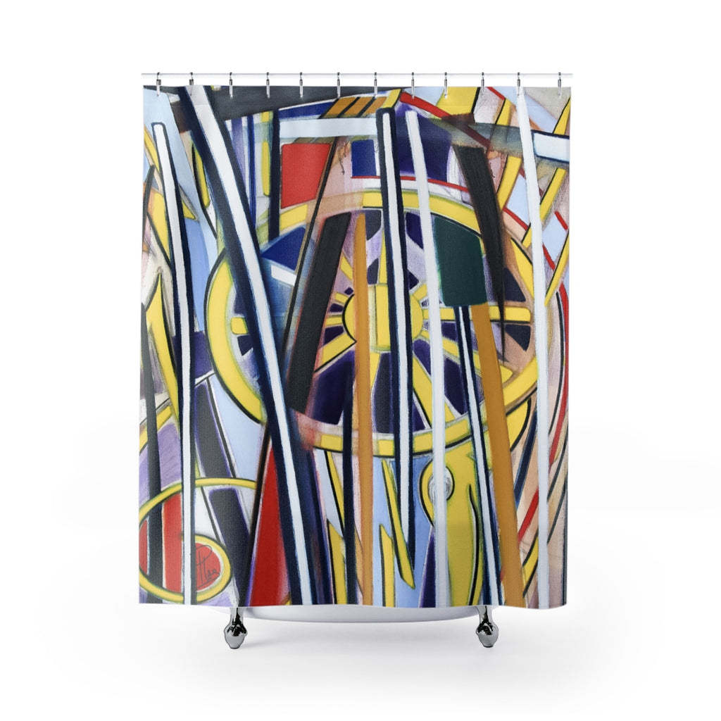 Fabrice Plas La Fortune Du Crocodile X Contemporary Art Shower Curtain - louisacatharinedesign