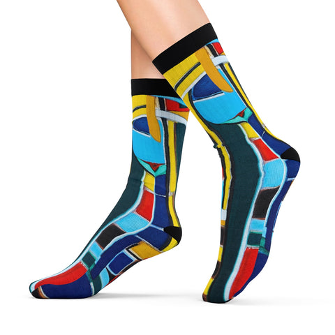 Fabrice Plas 'The Blackout Hearts The Flowered News' Socks - louisacatharinedesign