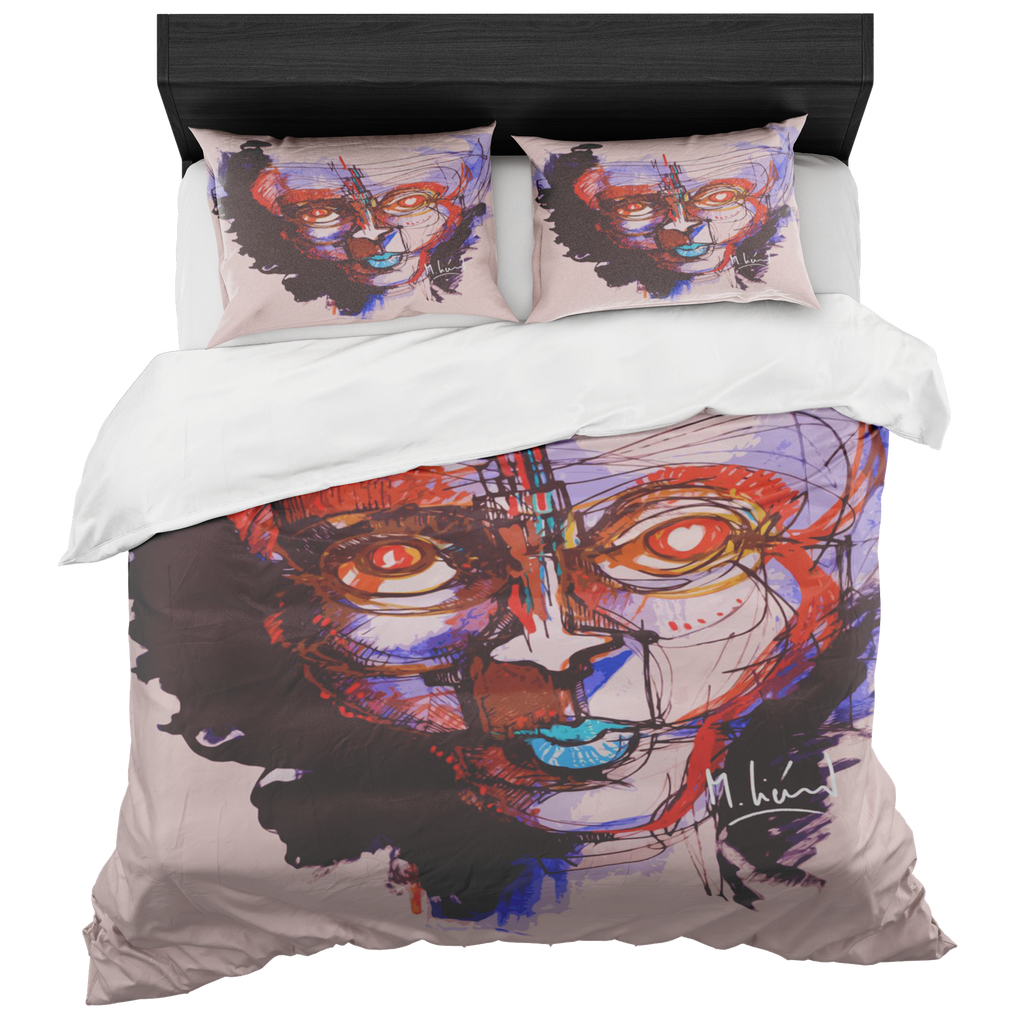 Face Of A Thousand Thoughts Duvet Set - louisacatharinedesign