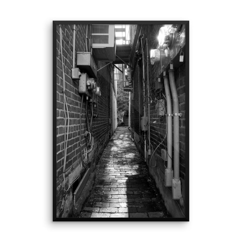'Alley' Visual Art framed print by Adrian Rodriguez - louisacatharinedesign