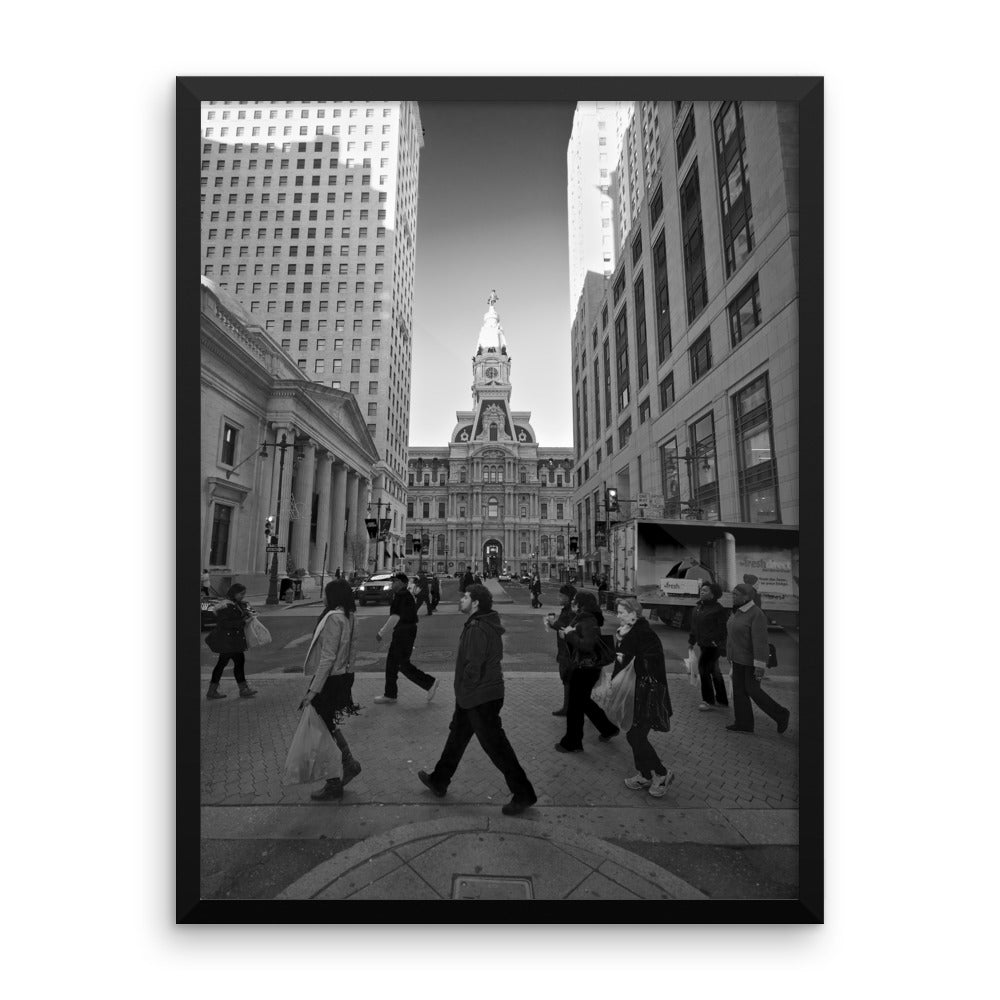'City Walk' Framed Visual Art by Adrian Rodriguez - louisacatharinedesign
