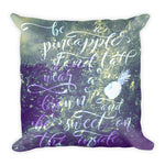 Bagaceous Pineapple Summer Daze Square Pillow - louisacatharinedesign
