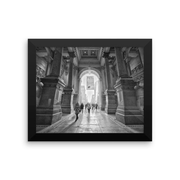 'Searching' Visual Art Framed Print by Adrian Rodriguez