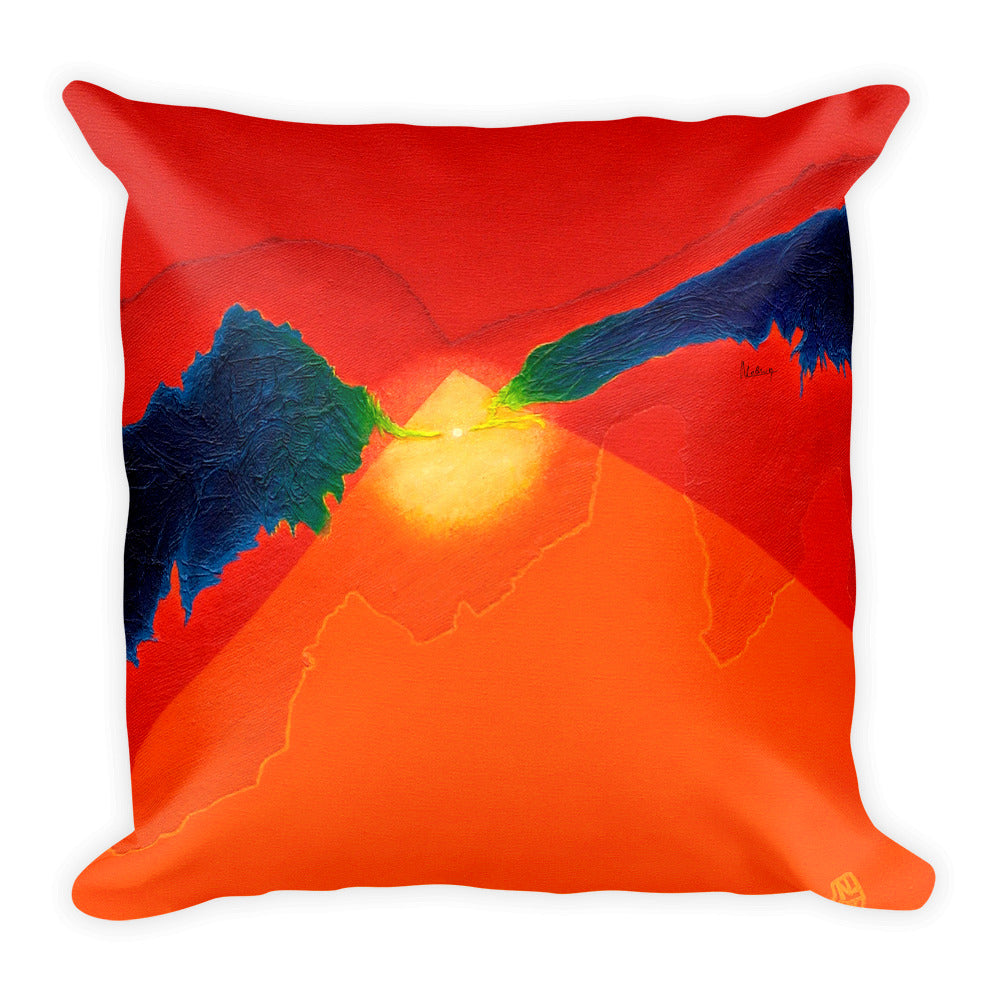 Sunshine Contemporary Art Throw Pillow