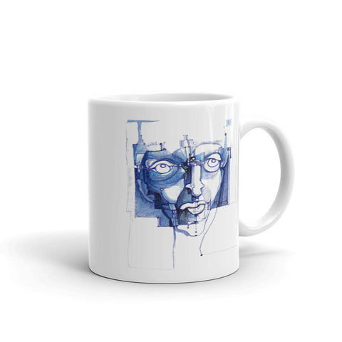 Michel Lienard Denim Blue Art Mug - louisacatharinedesign